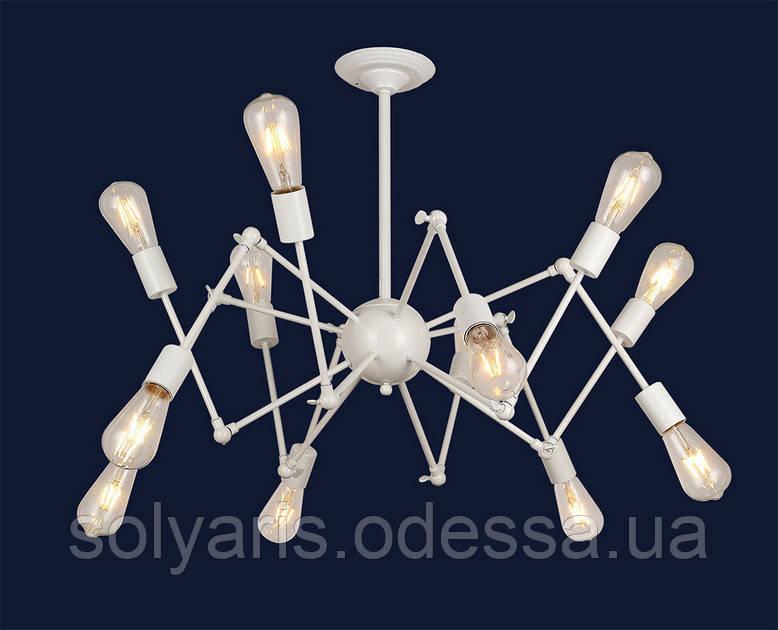 ЛЮСТРА SPIDER лофт паук 756PR9546-12 WH
