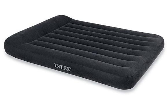 Полуторный надувной матрас с подголовником Intex 137*191*23см