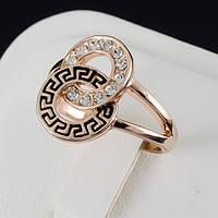 Пленительное кольцо с кристаллами Swarovski, покрытие золото 0552