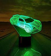 """Ночник детский светильник  """"Автомобиль 5"""" 3DTOYSLAMP"""