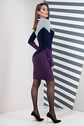 Теплое офисное платье  Размер универсальный 42-48, фото 2
