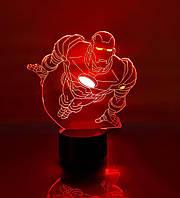 """Детский ночник для мальчика """"Железный человек 2"""" 3DTOYSLAMP, фото 1"""