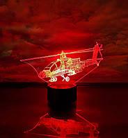 """3D светильник ночник """"Вертолет 3"""" 3DTOYSLAMP, фото 1"""