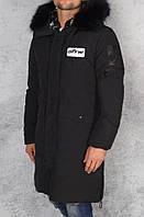 Пальто зимнее мужское / плащевка, синтепон 200, мех иск. / Украина 47-1180, фото 1