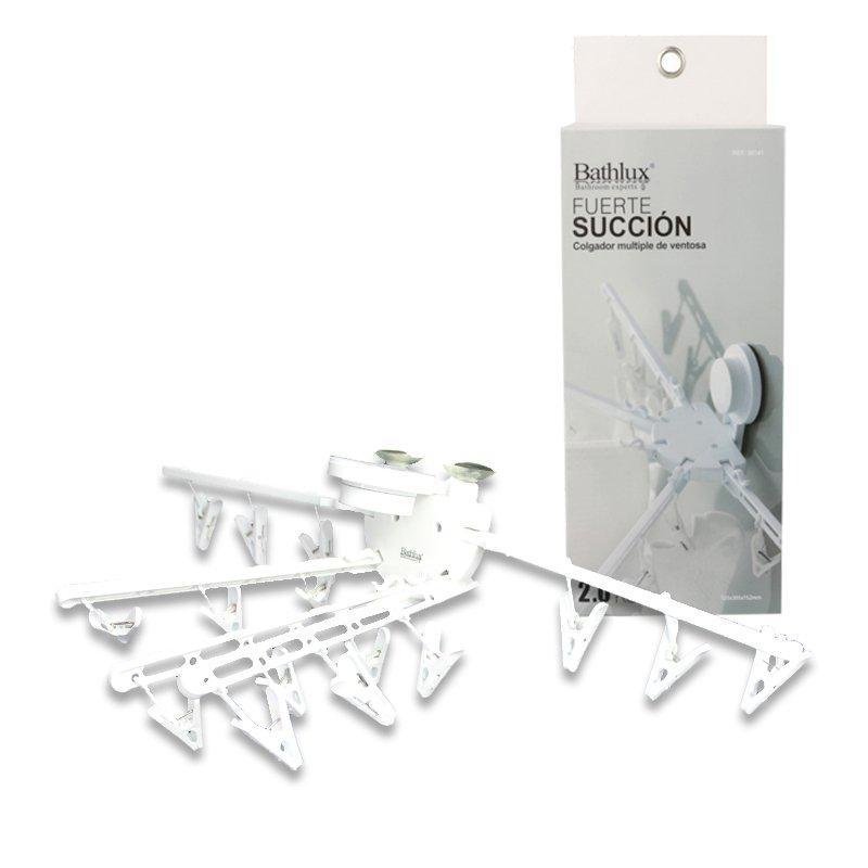 Гарнитур для сушки с прищепками на вакуумной присоске 52.5х15.2 см Bathlux 30141 R132529