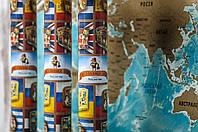 Скретч-карта мира, англ., фото 1