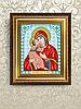 Схема для вышивки бисером Икона Владимирская