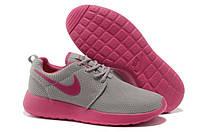 Кроссовки женские Nike Roshe Run  grey-pink