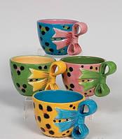 Фарфоровый набор из 4 десертных чайных чашек (Pavone)
