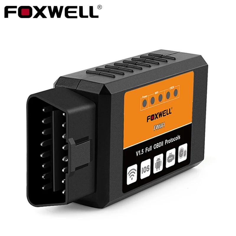 Діагностичний автосканер FOXWELL FW601 OBD2 ELM327 v1.5 WiFi для Android, iOS, iPhone