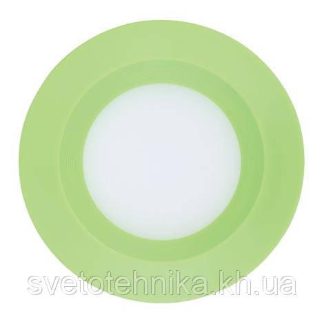 Светодиодный светильник встраиваемый светильник Feron AL525 3w  зелёный