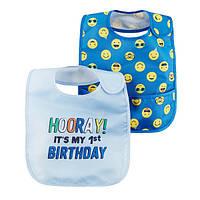 Набор слюнявчиков из 2-х штук для мальчика Carters мой первый день рождения