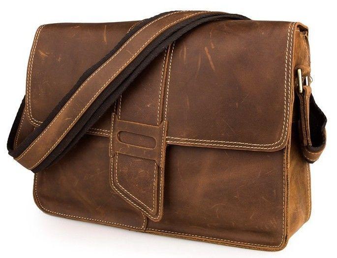 Сумка мужская Vintage 14231 в винтажном стиле Коричневая