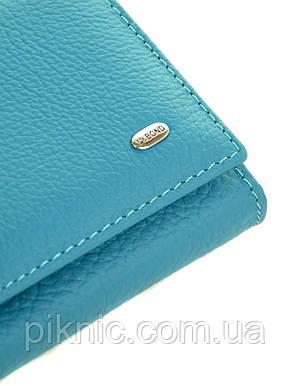 Женский кожаный кошелек на магните Dr Bond. Из кожи. С.синий, фото 2