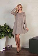 Женское демисезонное платье цвет пудровый