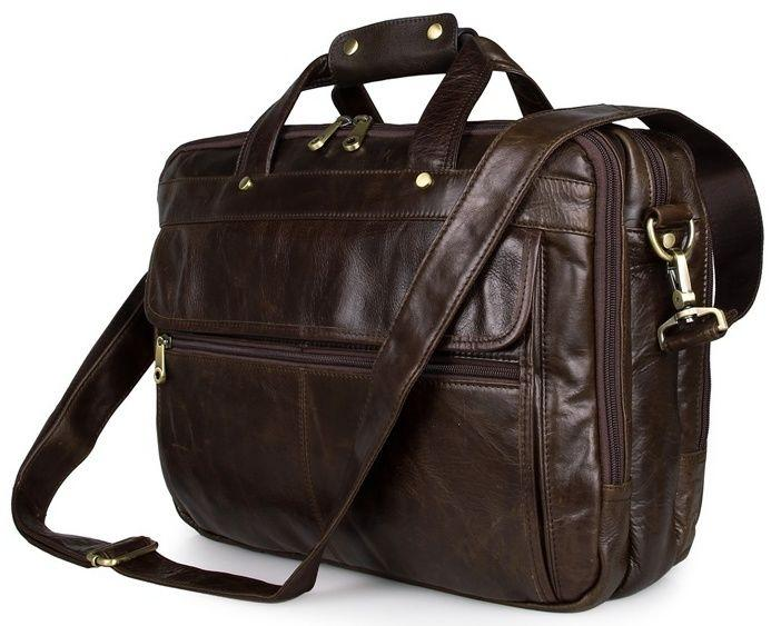 Сумка мужская Vintage 14247 для ноутбука с диагональю 15.6 дюйма Коричневая