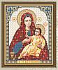 Схема для вышивки бисером Образ Пресвятой Богородицы Козельщанская