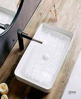 Раковина накладная квадратная Newarc Aqua 9461W белая