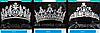 180 Романтичные свадебные комплекты бижутерии с цирконием, серьги + колье оптом, фото 3