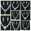 194 Эксклюзивные свадебные комплекты бижутерии с цирконием оптом , фото 2