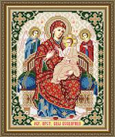 Схема для вышивки бисером Образ Пресвятой Богородицы Всецарица