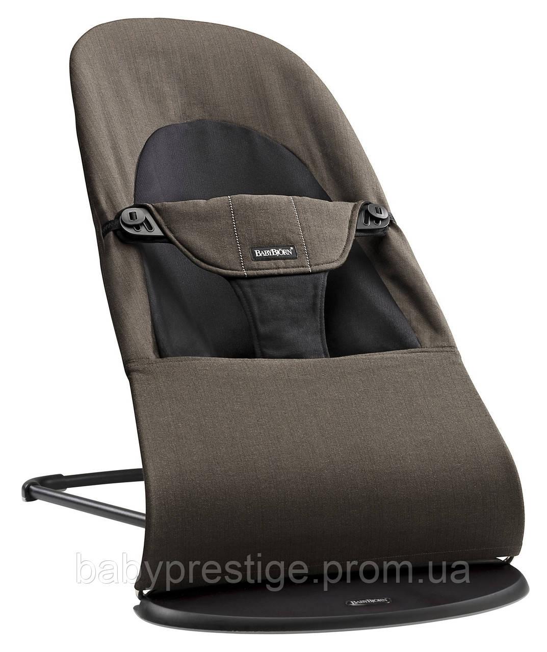 Кресло-шезлонг  от BABYBJORN - Balance Soft ORGANIC-Black / Brown