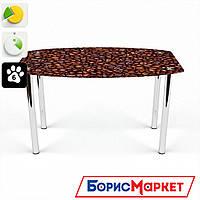 Обеденный стол стеклянный (фотопечать) Бочка Coffee aroma  от БЦ-Стол 910х610 *Эко