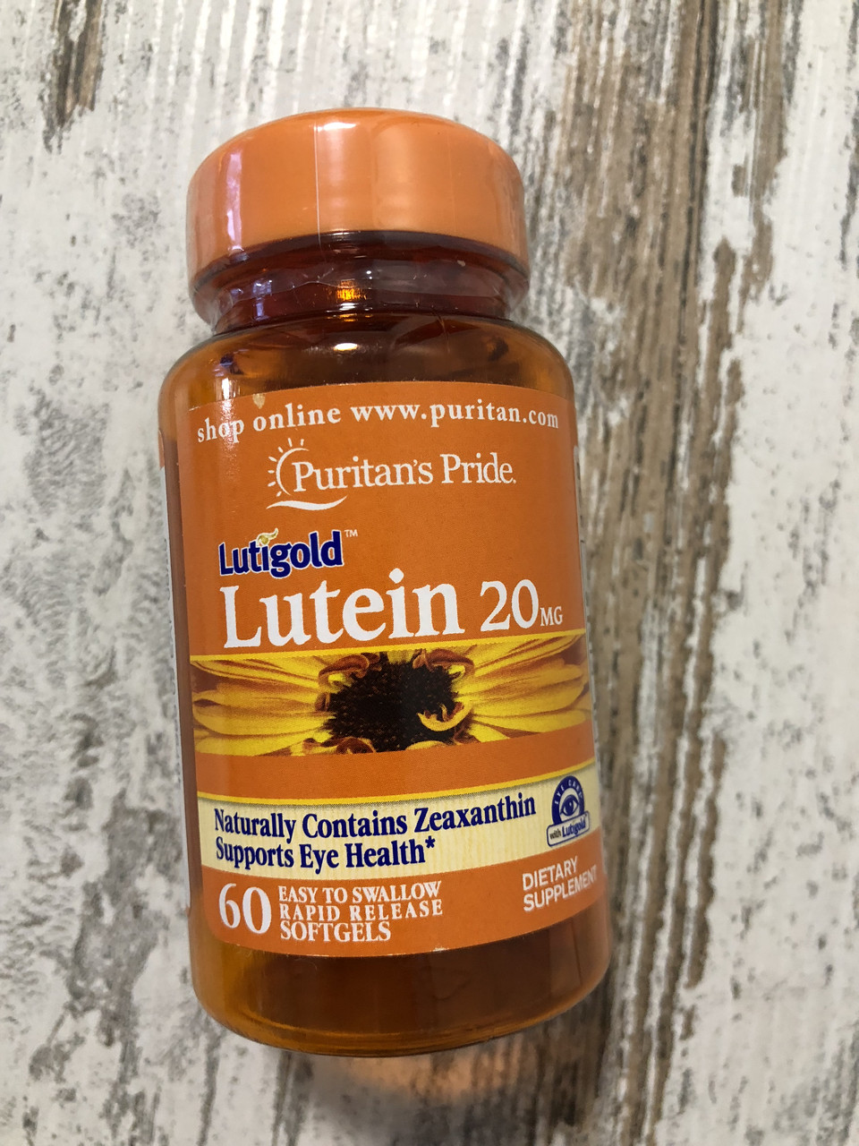 Лютеин для здровья глаз PURITAN'S PRIDE Lutein