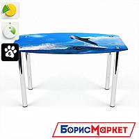 Обеденный стол стеклянный (фотопечать) Бочка Dolphin  от БЦ-Стол
