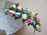 Обруч с тюльпанами половинка 65 грн, фото 3