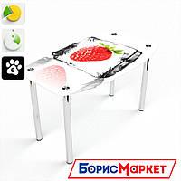 Обеденный стол стеклянный (фотопечать) Бочка Ice berry от БЦ-Стол 910х610 *Эко