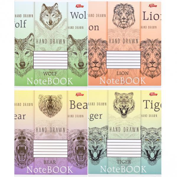 Тетрадь цветная 48 листов, клетка «Нарисованный от руки»               16 штук                    2679к