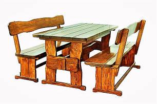 Деревянная садовая мебель из массива дерева от производителя в Украине