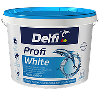 """Краска латексная акриловая для стен и потолков """"Profi White"""" Delfi 14 кг"""