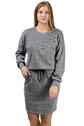 """Молодіжне повсякденне плаття """"Milana"""",сірий, розміри М-XXL"""