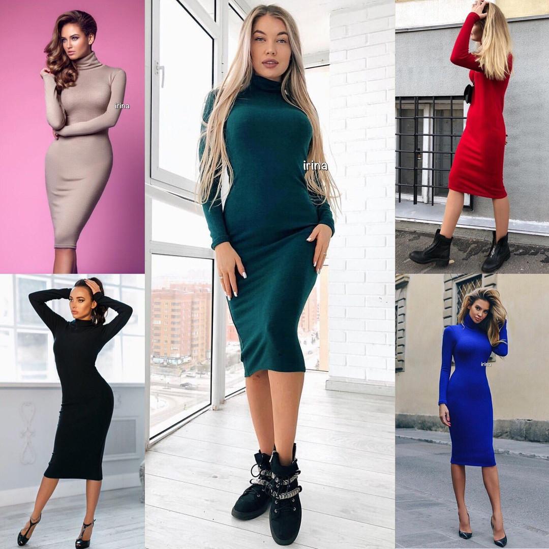 6b1a1c618a4 Женское стильное модное платье ангора
