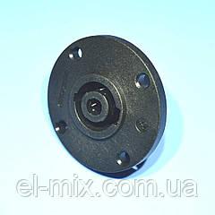 Гнездо SPEAK-ON 4-pin монтажное круглое  1-0245