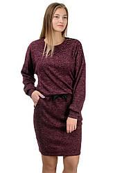 """Молодіжне повсякденне плаття """"Milana"""",марсала, розміри М-XXL"""