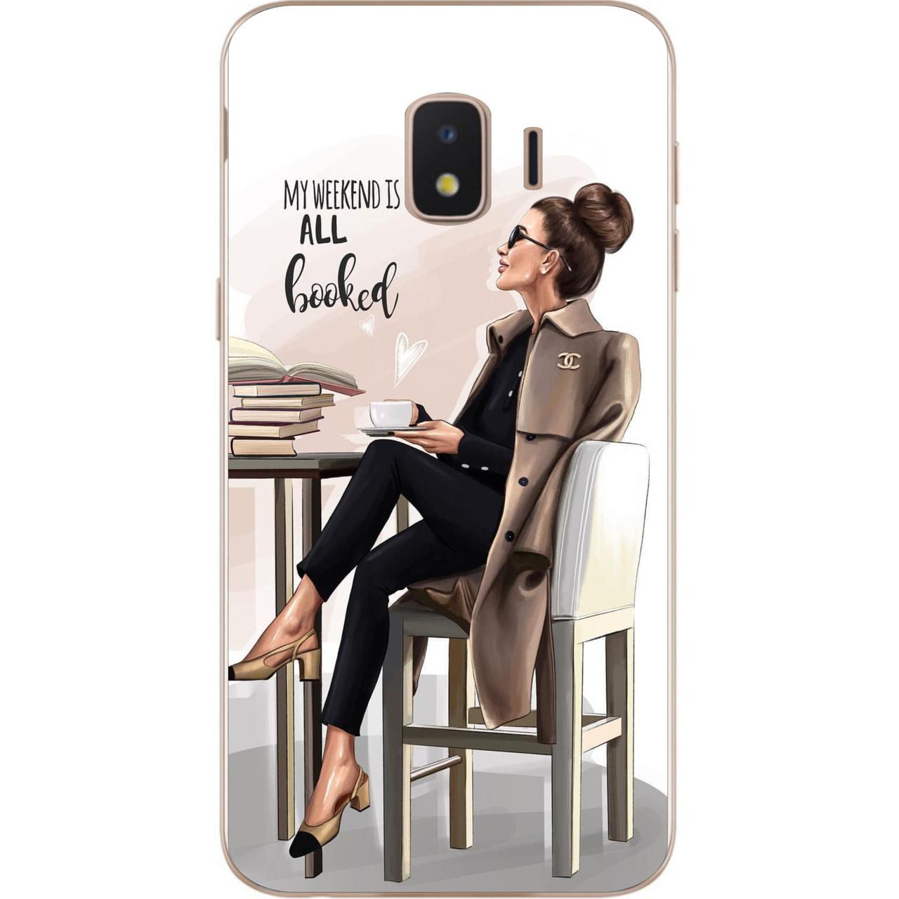 Чохол силіконовий для Samsung J2 Core J260 Galaxy 2018 з картинкою Дівчина