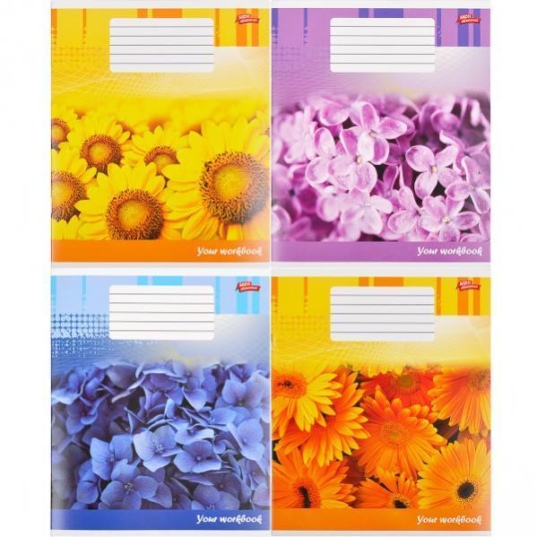 Тетрадь цветная 48 листов, клетка «Цветочная тетрадь»           16 штук                      2381к