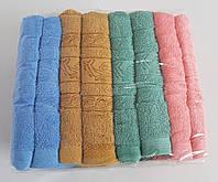 Махровые хлопковые полотенца для лица в расцветках (8 шт)