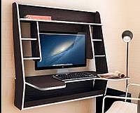 Геймерский навесной стол  ZEUS™ IGROK-MAX, венге/белый, фото 1