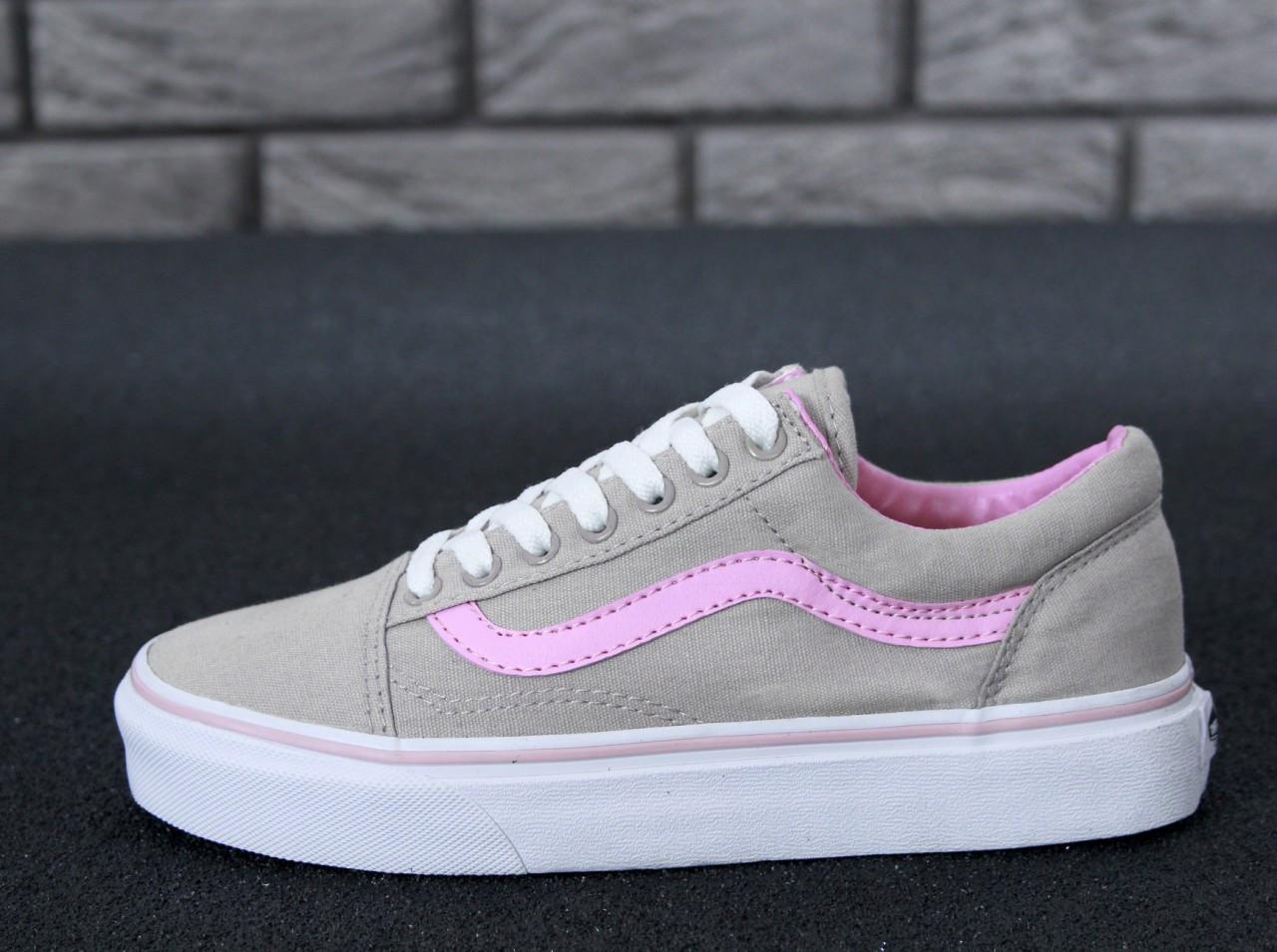 Женские Кеды Vans Old Skool X Grey Pink — в Категории