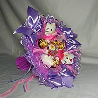 Букет из конфет и мягких игрушек для будущей мамы