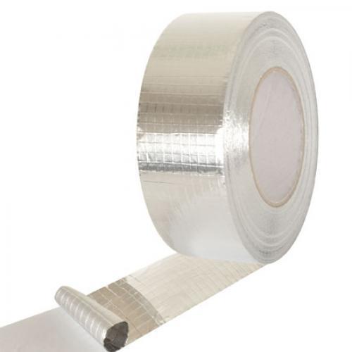 Скотч алюминиевый (армированый) квадр сетка 50м