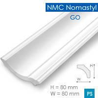 Экструзионный потолочный плинтус Nomastyl  GО (80*80), 2 м, белый
