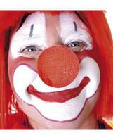 Нос клоуна поролон накладной без резинки