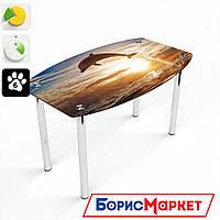 Обеденный стол стеклянный (фотопечать) Бочка Sunset от БЦ-Стол 910х610 *Эко