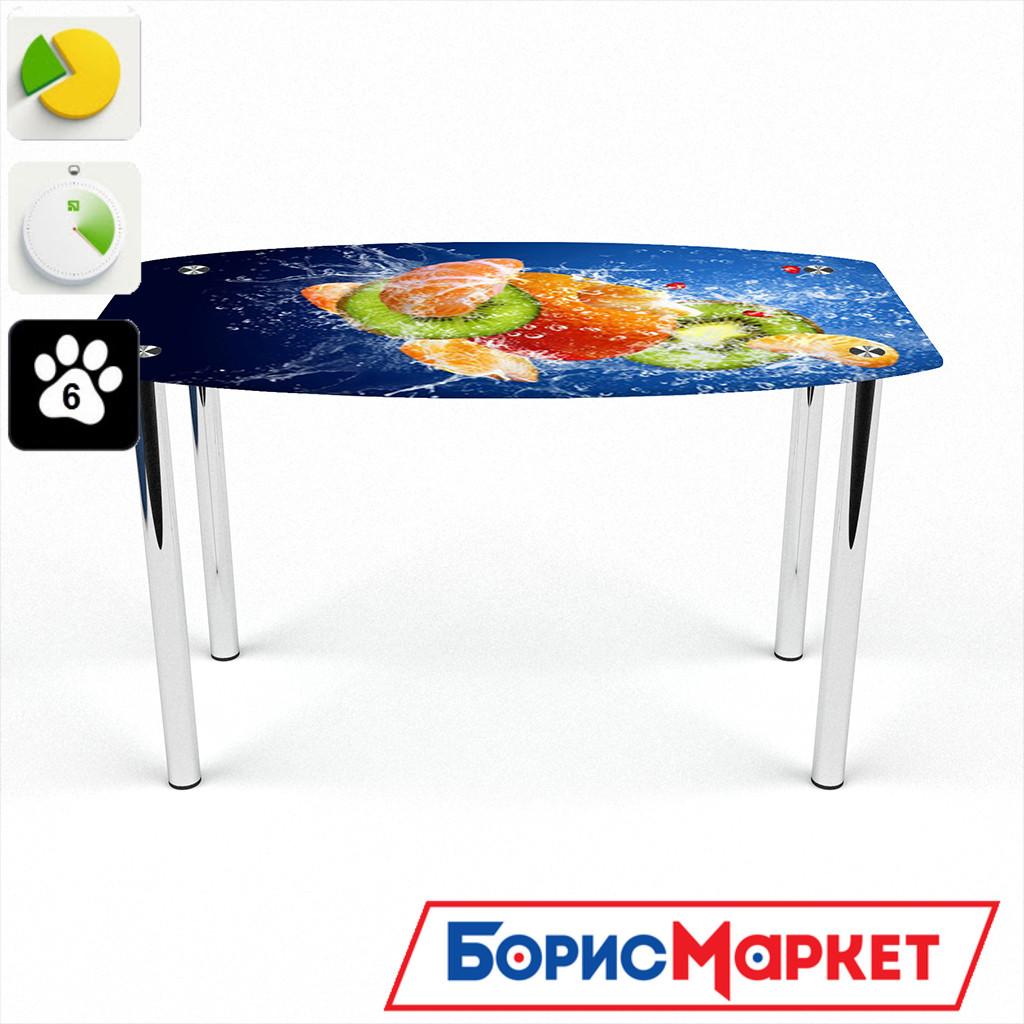 Обеденный стол стеклянный (фотопечать) Бочка Sweet Mix  от БЦ-Стол