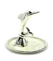 """Подставка под кольца """"дельфин"""" (7х8,5х7,5 см)(2580lq)""""серебро"""""""